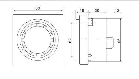 220VAC 80dB Mini Industrial Panel Alarm Electronic Buzzer Concealed Installation