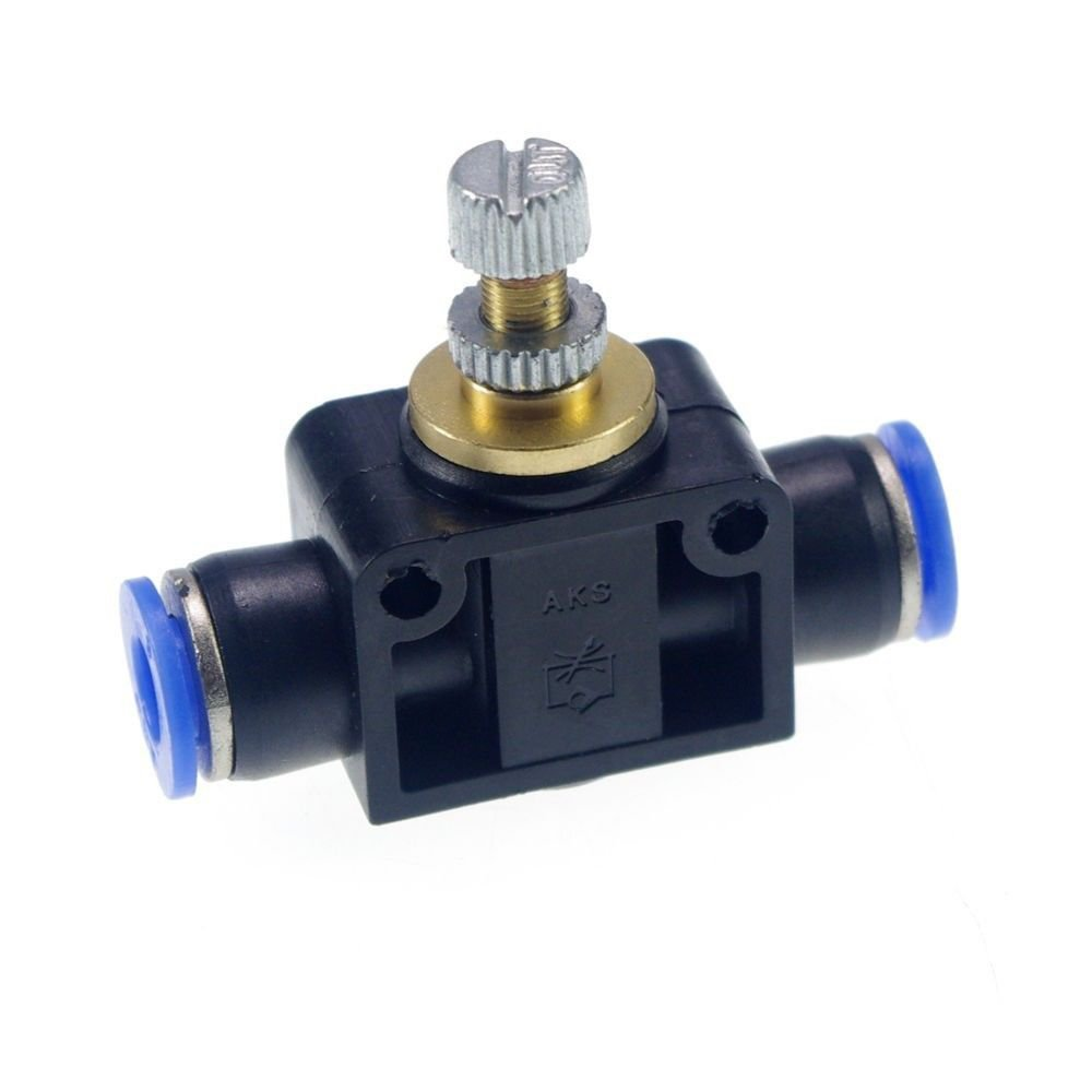 (5)pcs 12mm Push In Speed Controller Pneumatic Air Valves
