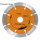 114*20*1.8mm Diamond saw blade Cutting marble, granite tile