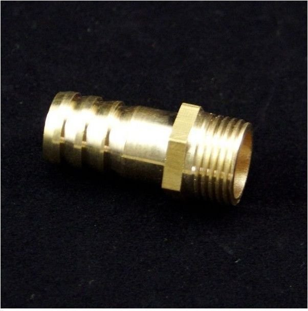 "5pcs 3/8"" BSPP Connection Male-6mm barbed Hose Brass Adapter Coupler Connector"