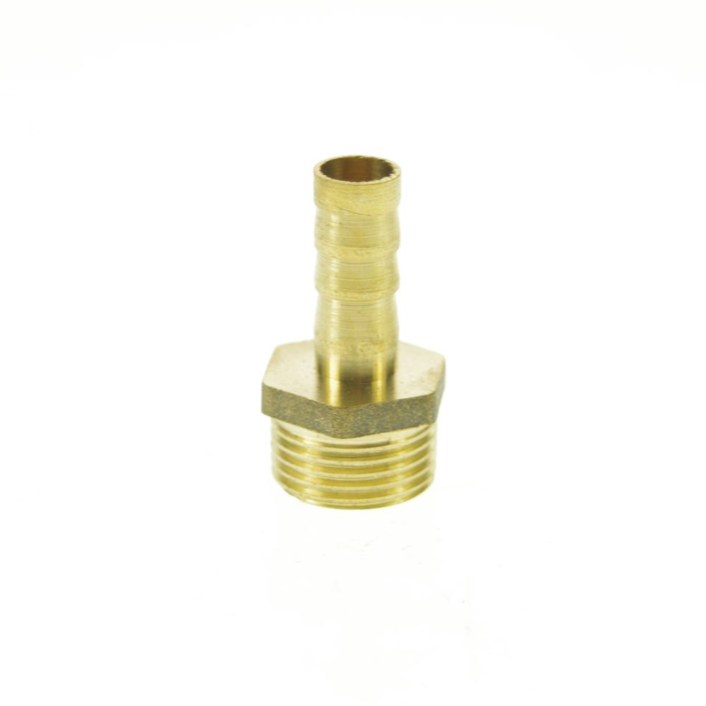 """5pcs 3/8"""" BSPP Connection Male-8mm barbed Hose Brass Adapter Coupler Connector"""