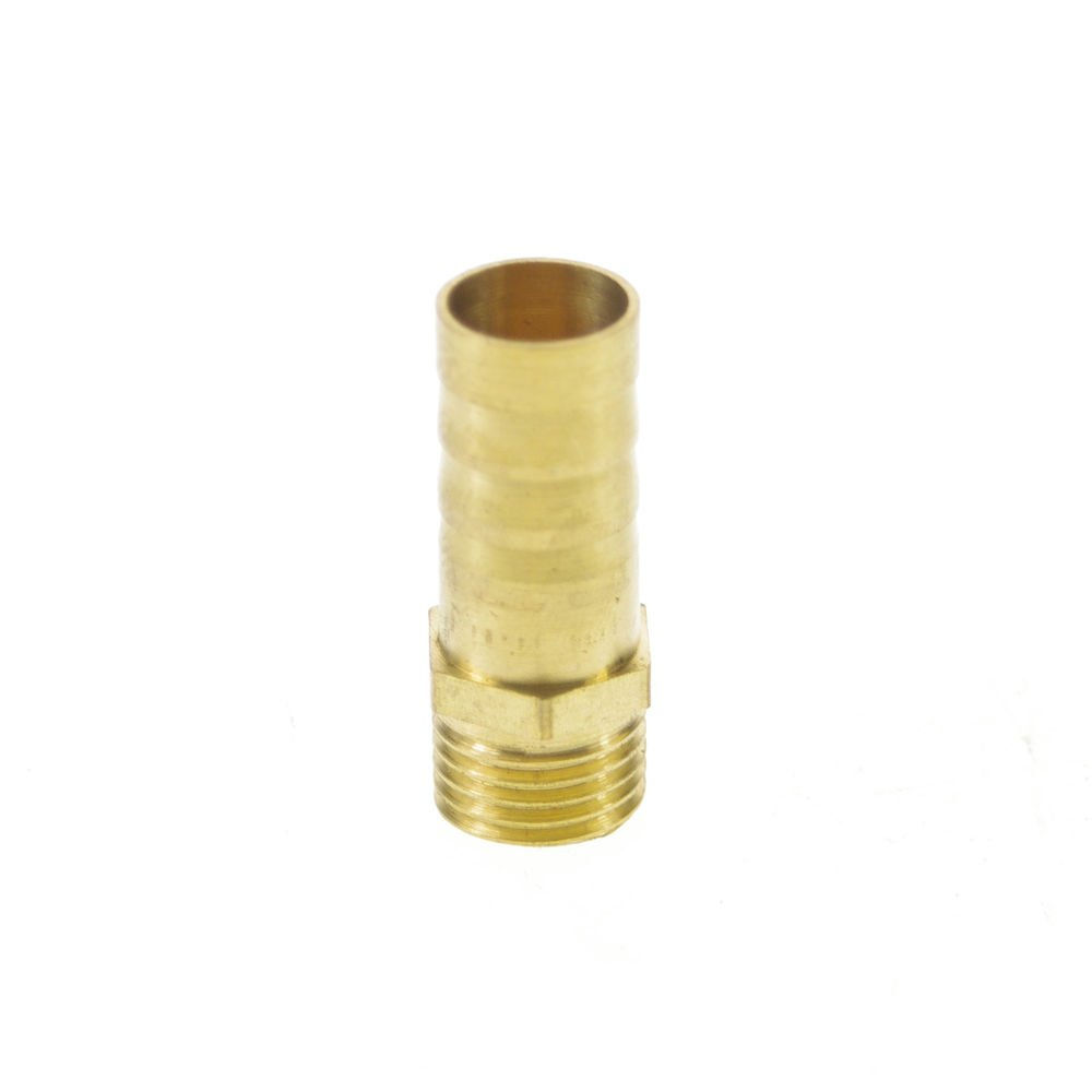 "5pcs 1/4"" BSPP Connection Male-12mm barbed Hose Brass Adapter Coupler Connector"