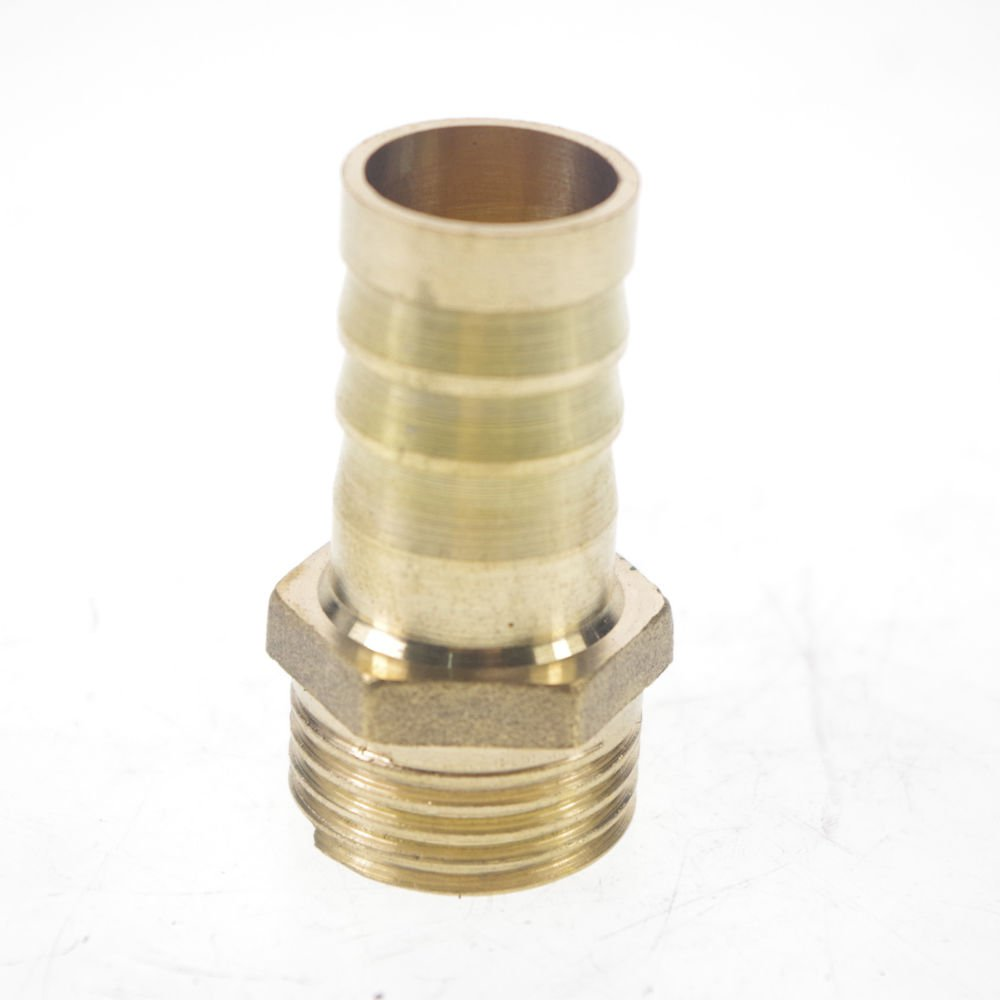 "2PCS 1/2"" BSPP Connection Male-16mm barbed Hose Brass Connector Adapter Coupler"