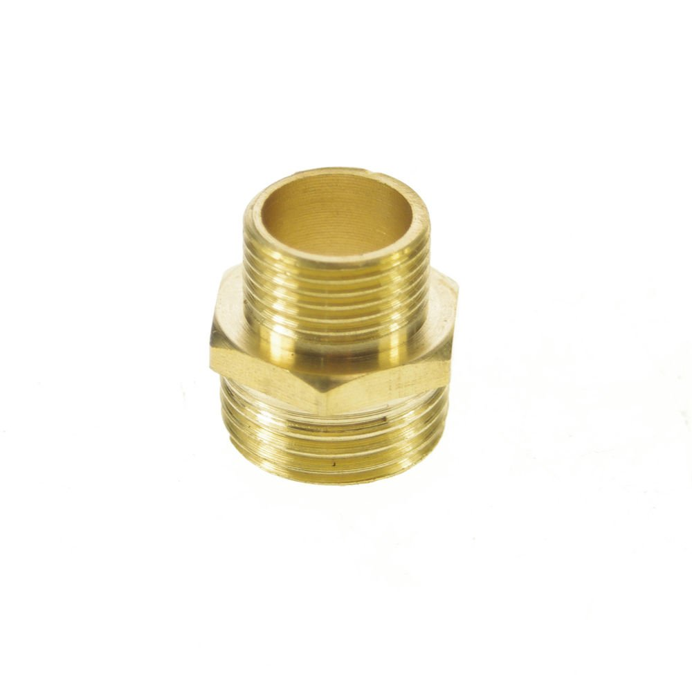 """5PCS Brass 3/8"""" Male x 1/2"""" Male BSPP Connection Hex Bushing Adapter Reducer"""