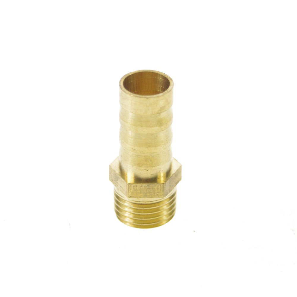 """5PCS 1/4"""" BSPP Male-10mm barbeded Hose Brass Adapter Coupler Connector"""