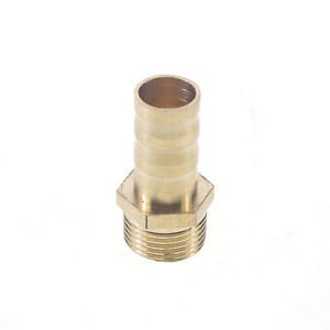 """5pcs 3/8"""" BSPP Connection Male-12mm barbed Hose Brass Connector Adapter Coupler"""