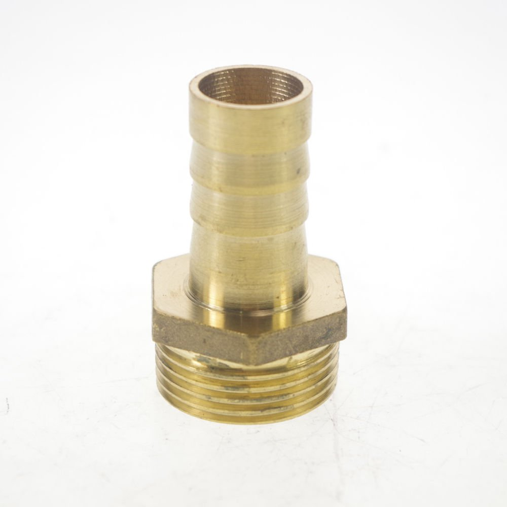 "2PCS 3/4"" BSPP Connection Male-16mm barbed Hose Brass Pipe Adapter Coupler"