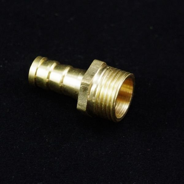 """2PCS 1/2"""" BSPP Connection Male-19mm barbed Hose Brass Pipe Connector Adapter"""