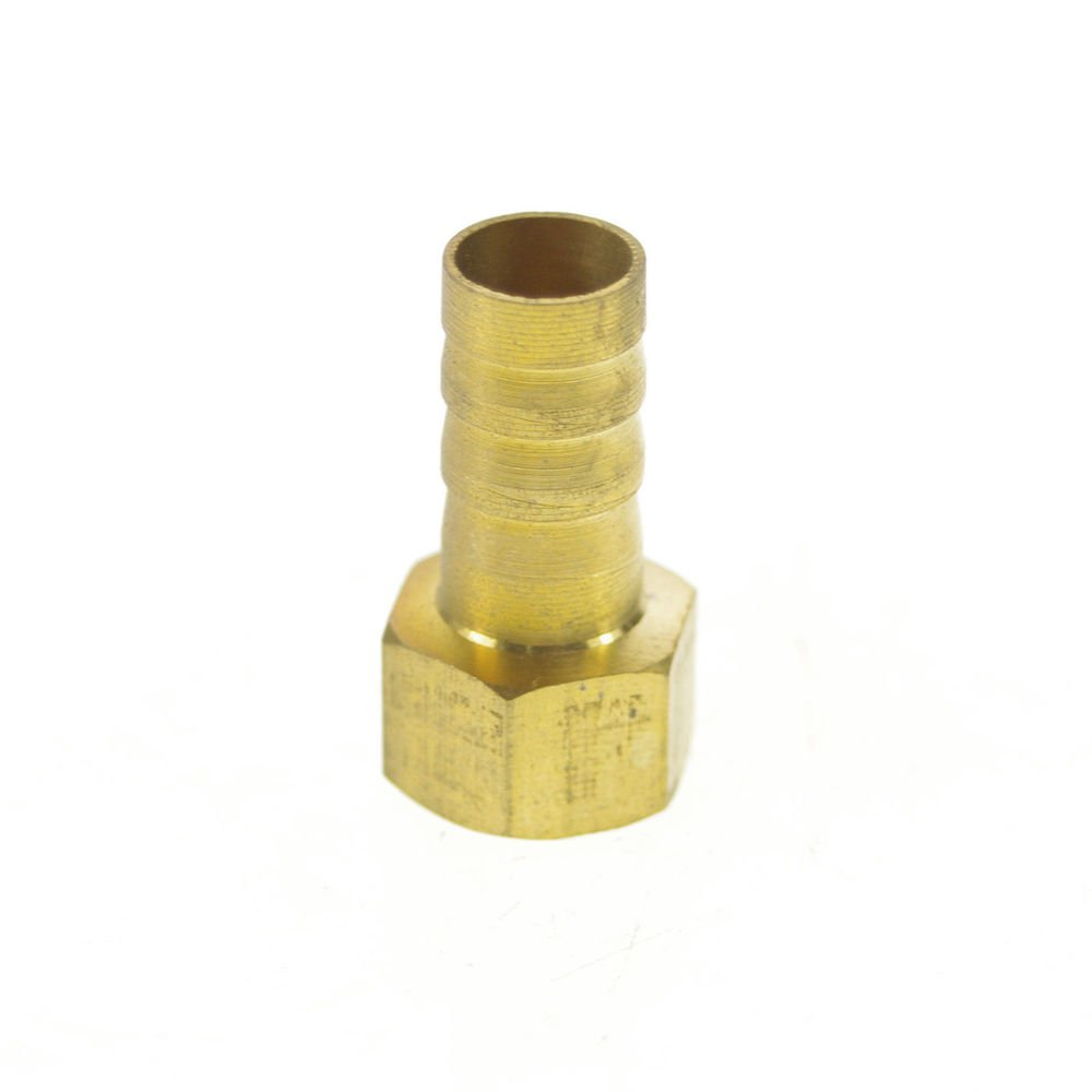 "5pcs 1/4"" BSPP Female-10mm barbed Hose Brass Pipe Connector Adapter"