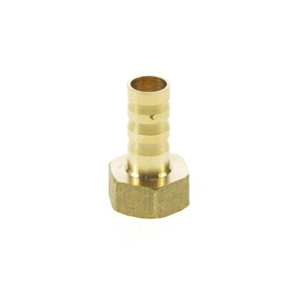 """5pcs 3/8"""" BSPP Female-10mm barbeded Hose Brass Pipe Connector Adapter"""