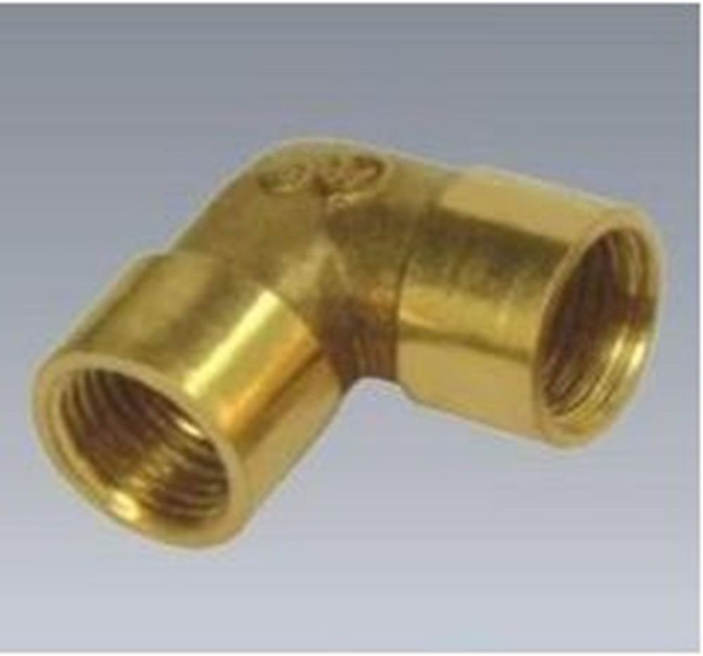 "3/8"" BSPP Elbow Female Pipe Brass Adapter Coupler"