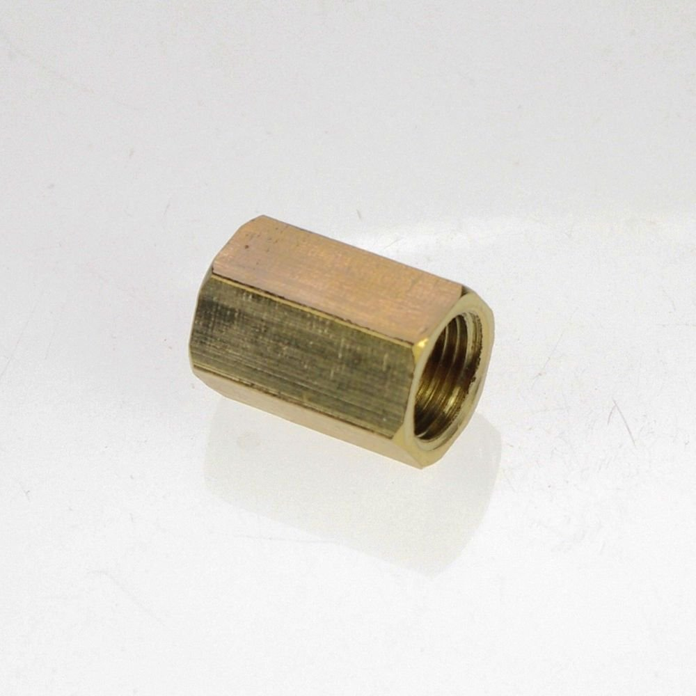 "2PCS 3/8"" BSPP Connection Female Brass Pipe Straight Adapter Coupler"