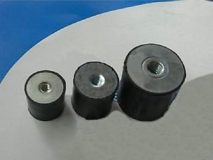 10 pcs Double end Female Thread M8 Rubber damper Rubber Mount Size 30mm*30mm