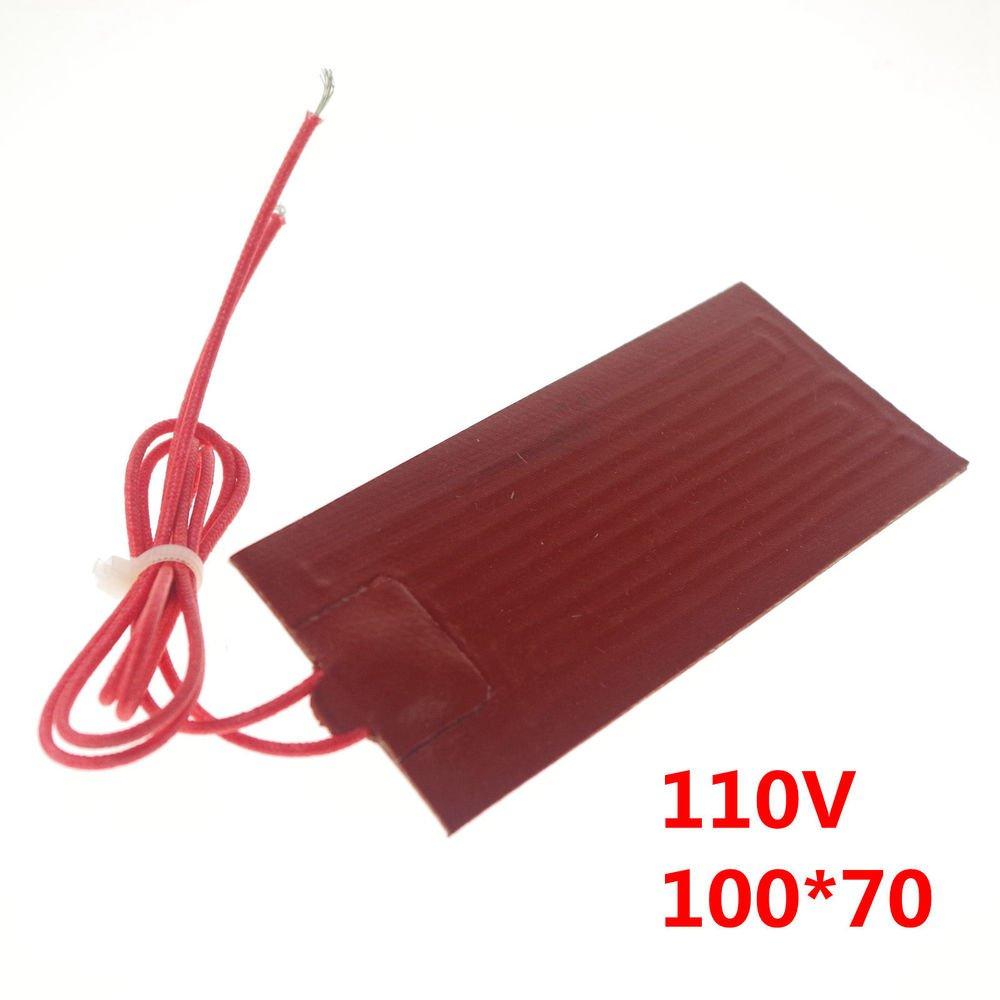 110V 25W 100*70mm Silicon Band Drum Heater Oil Biodiesel Plastic Metal Barrel