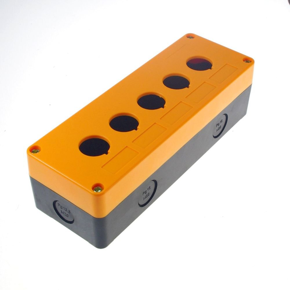 22mm 5 Hole  204x73x58 mm Push Button Switch Station Control Plastic Box Case