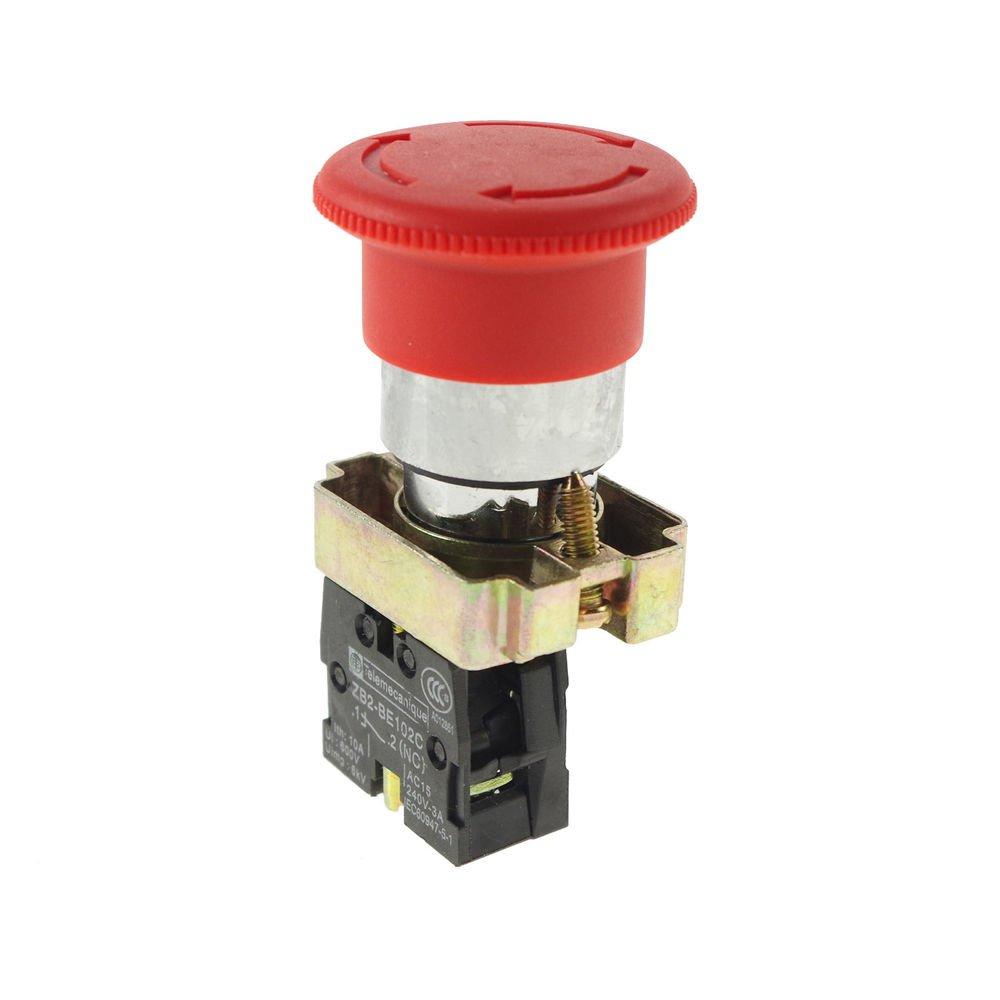 XB2BS542C Turn to Released 1N/C Red Emergency Stop Mushroom Push button Switch