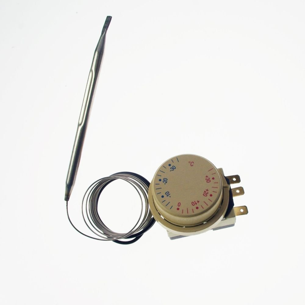 1PCS 220V 16A Thermostat Knob Refrigerator Temperature Switch Controller Probe