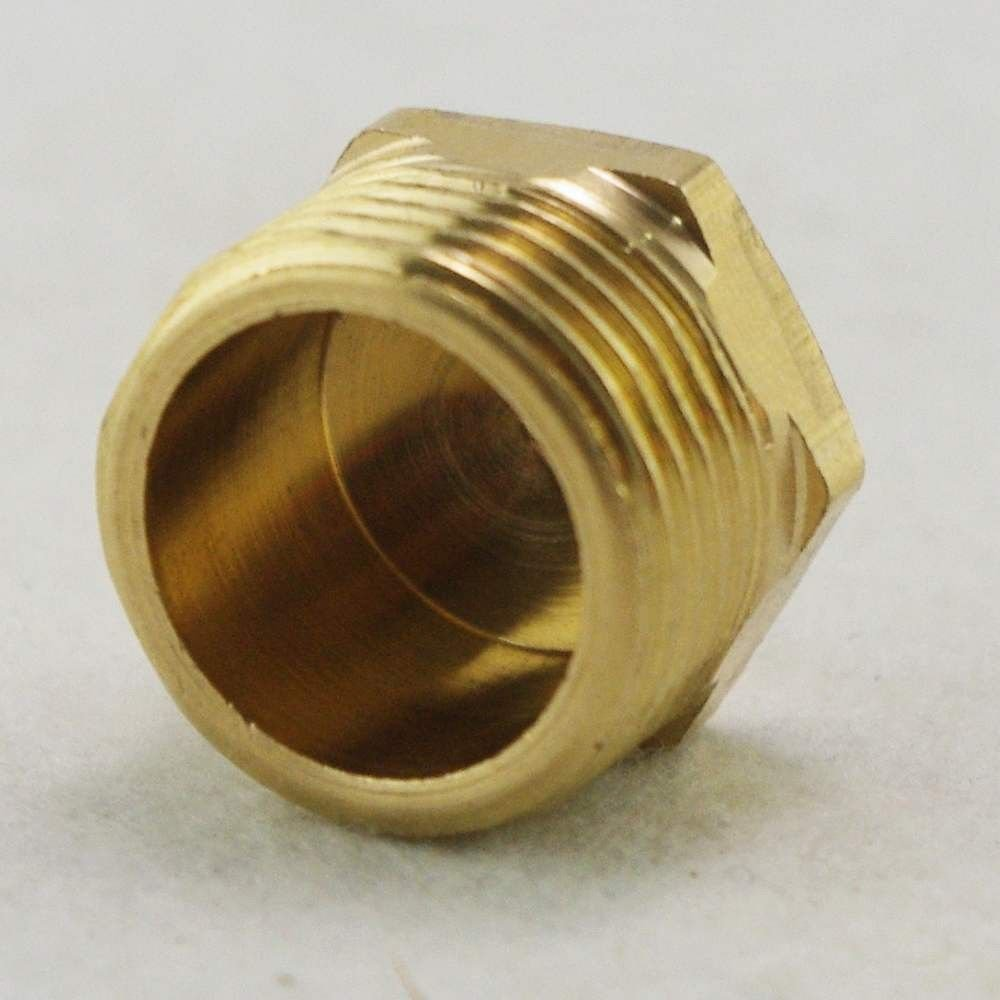 "5PCS 3/8""Threaded pipe Hex Head Brass Plug Pneumatics Hydraulics Fittings"