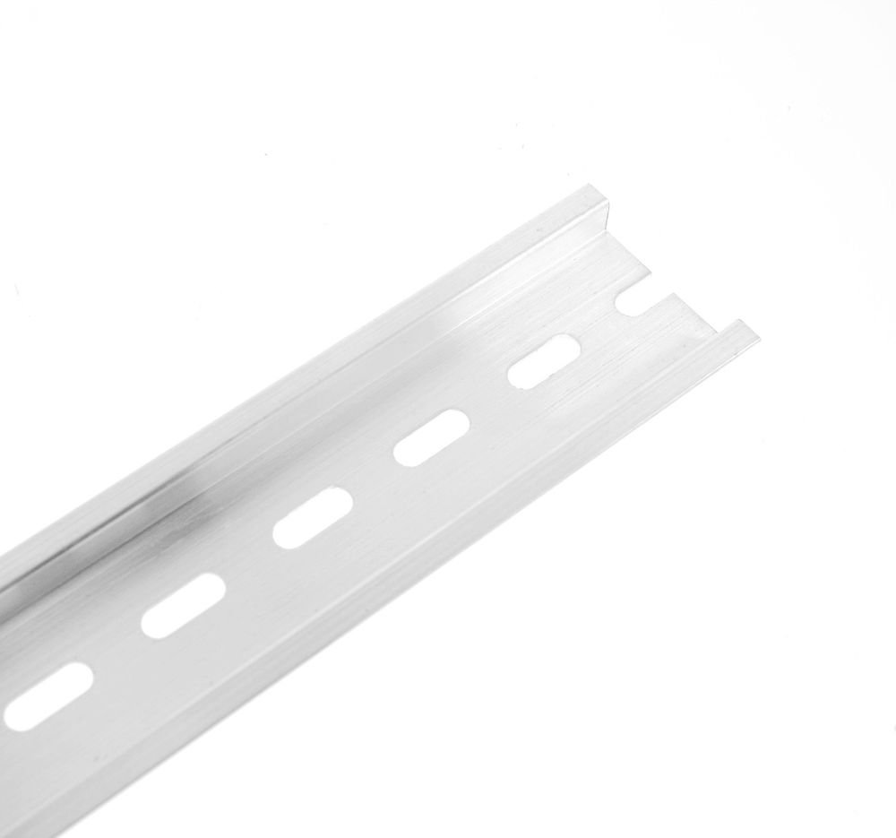 2pcs 200mm Length Aluminum U Groove C45 Switch Meter Slotted DIN Rail