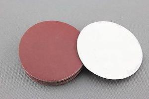 (20) 100 mm Diameter Flocking Sandpaper 600 Grit Sandpaper with 1 PC Tray