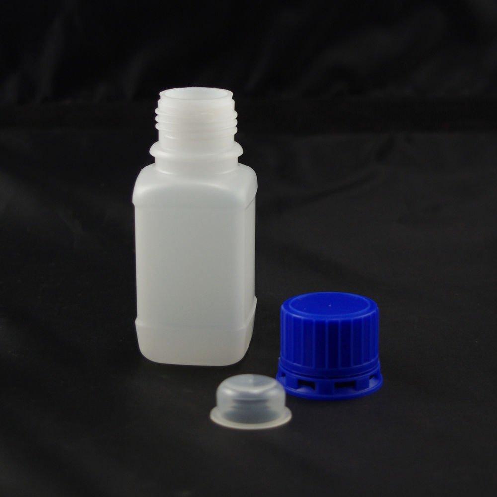 lot10 HDPE bottle with tamperproof cap 100ml sample bottle