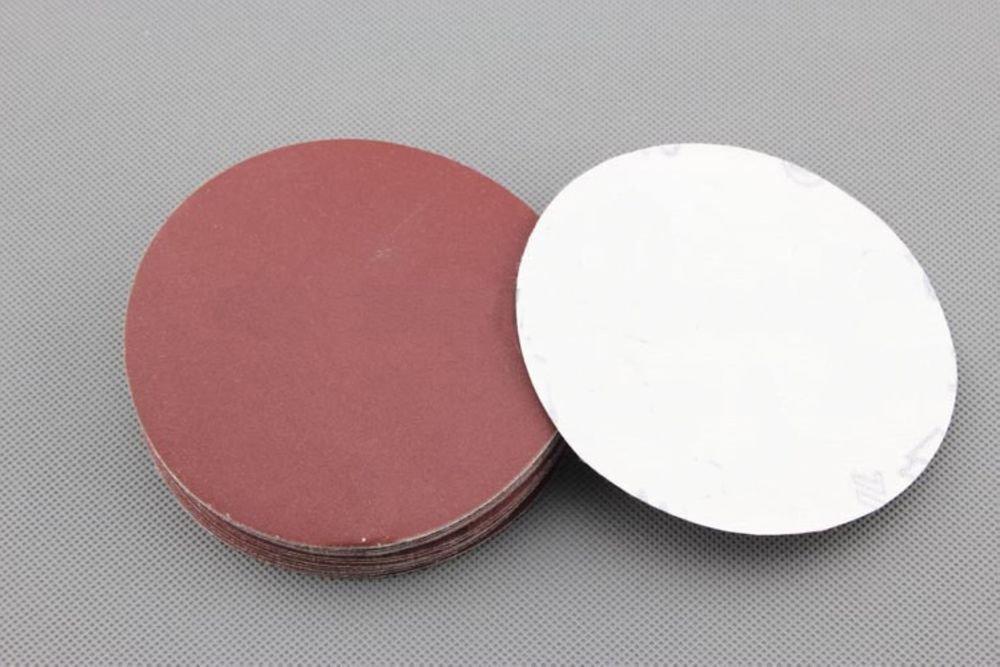 �20� 100 mm Diameter Flocking Sandpaper 40 Grit Sandpaper with 1 PC Tray
