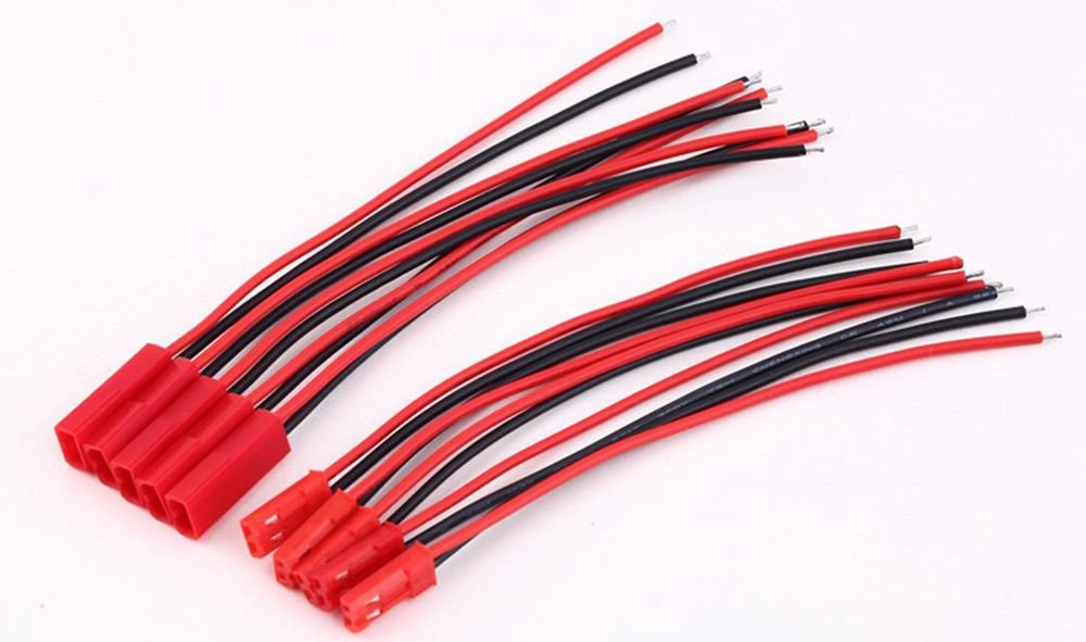 10 pairs Battery Plug 15cm JST RC Model Socket Connector Cable Wire Male Female