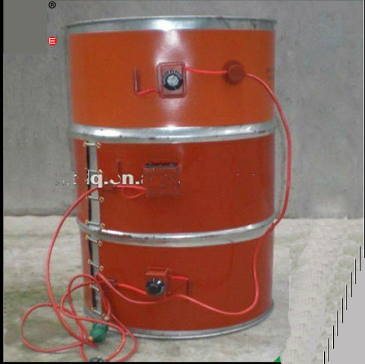 110V  1250mm*250mm Silicon Band Drum Heater Oil Biodiesel Plastic Metal Barrel