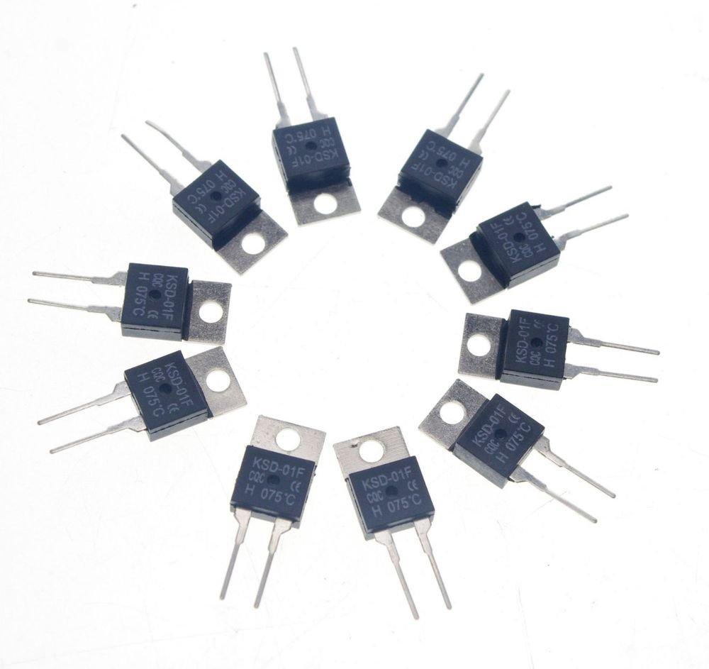 10PCS KSD-01F NC 45 Celsius TO-220 Temperature Switch Controllor Thermostat 250V