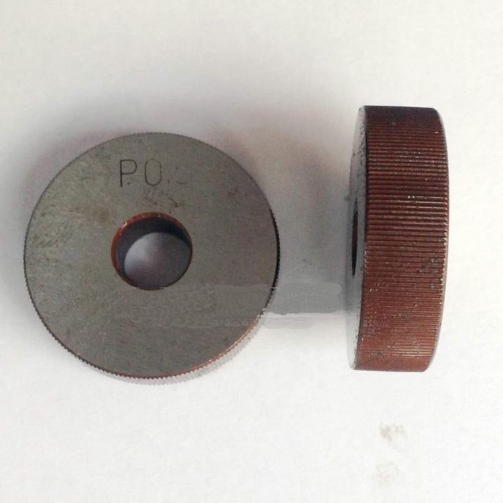 2PCS 1.2mm Pitch 8mm(ID)*28mm(OD)*8mm(H) Single Straight Wheel Knurling Linear