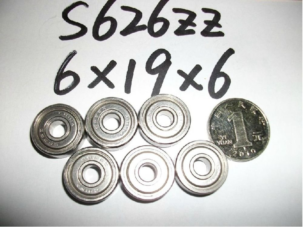 6*19*6mm S626ZZ shielded deep groove Thin-Section Radial stainless Bearing