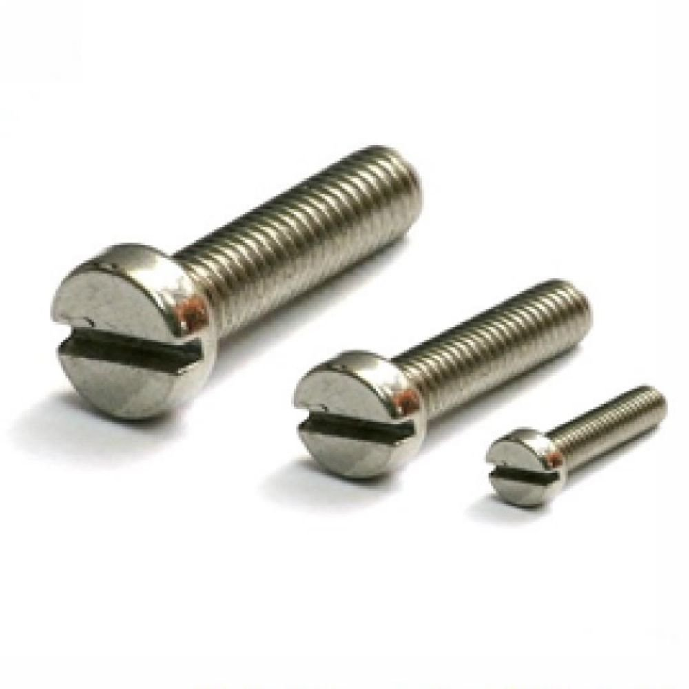(50) Metric Thread M5*12mm Stainless steel Slotted Cheese Head Screw
