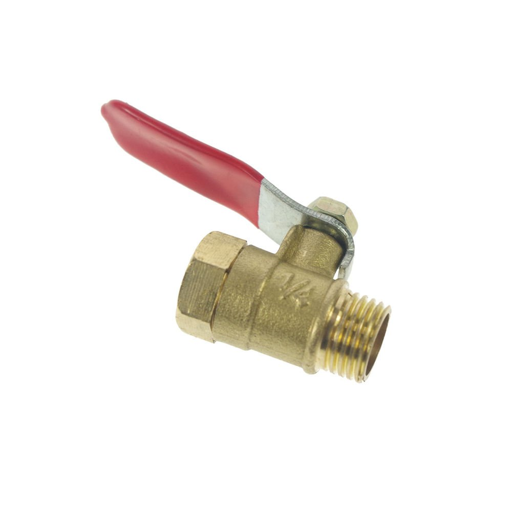 "1/4"" BSPP Connection Air Male-Female Full Ports Brass Pipe Ball Valve"
