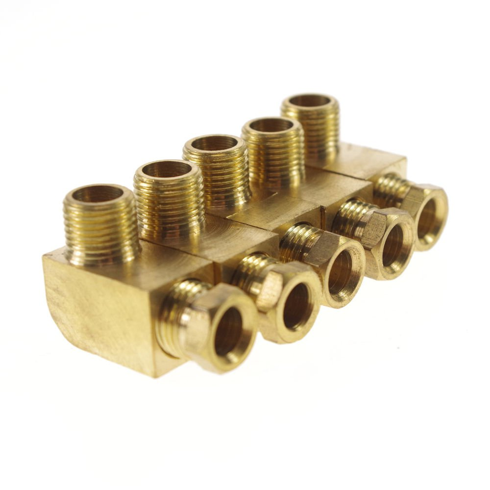 """5PCS 1/8"""" Male 6mm Pipe elbow Brass Connector Machine Tool Oil Filter Canister"""