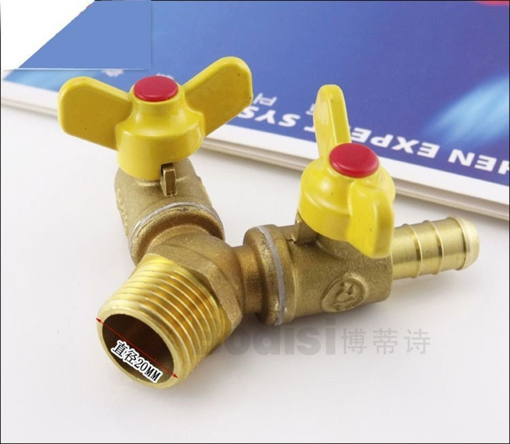 """1PCS 1/2"""" BSPP Male 10 mm Barbed Brass 3 Ways Gas Fitting Connector"""