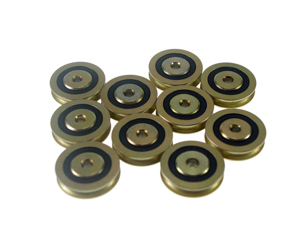 (10)6*38*9.7mm 0638UU U Groove Guide Pulley Sealed Rail Ball Bearing 6*38*9.7