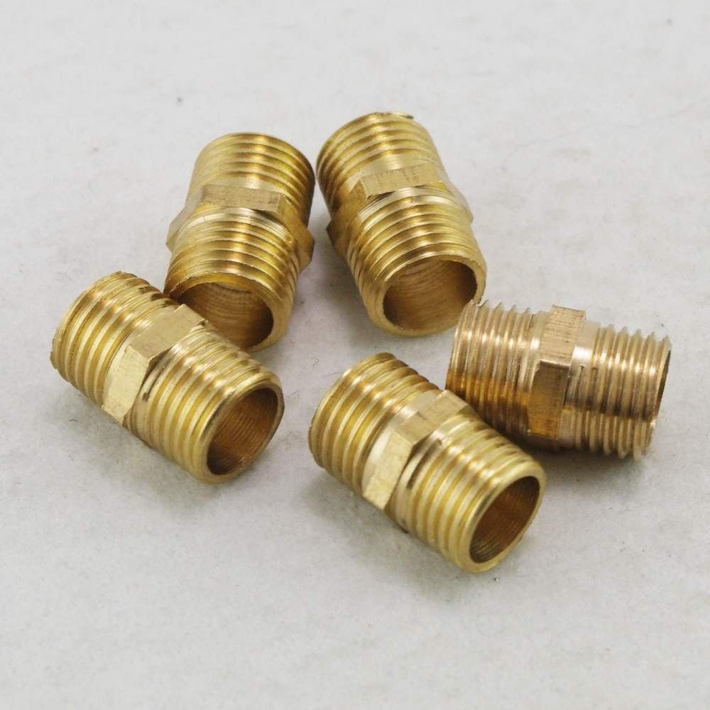 """5PCS 1/2"""" BSPP Connection straight Male Pipe Brass Adapter Coupler Connector"""