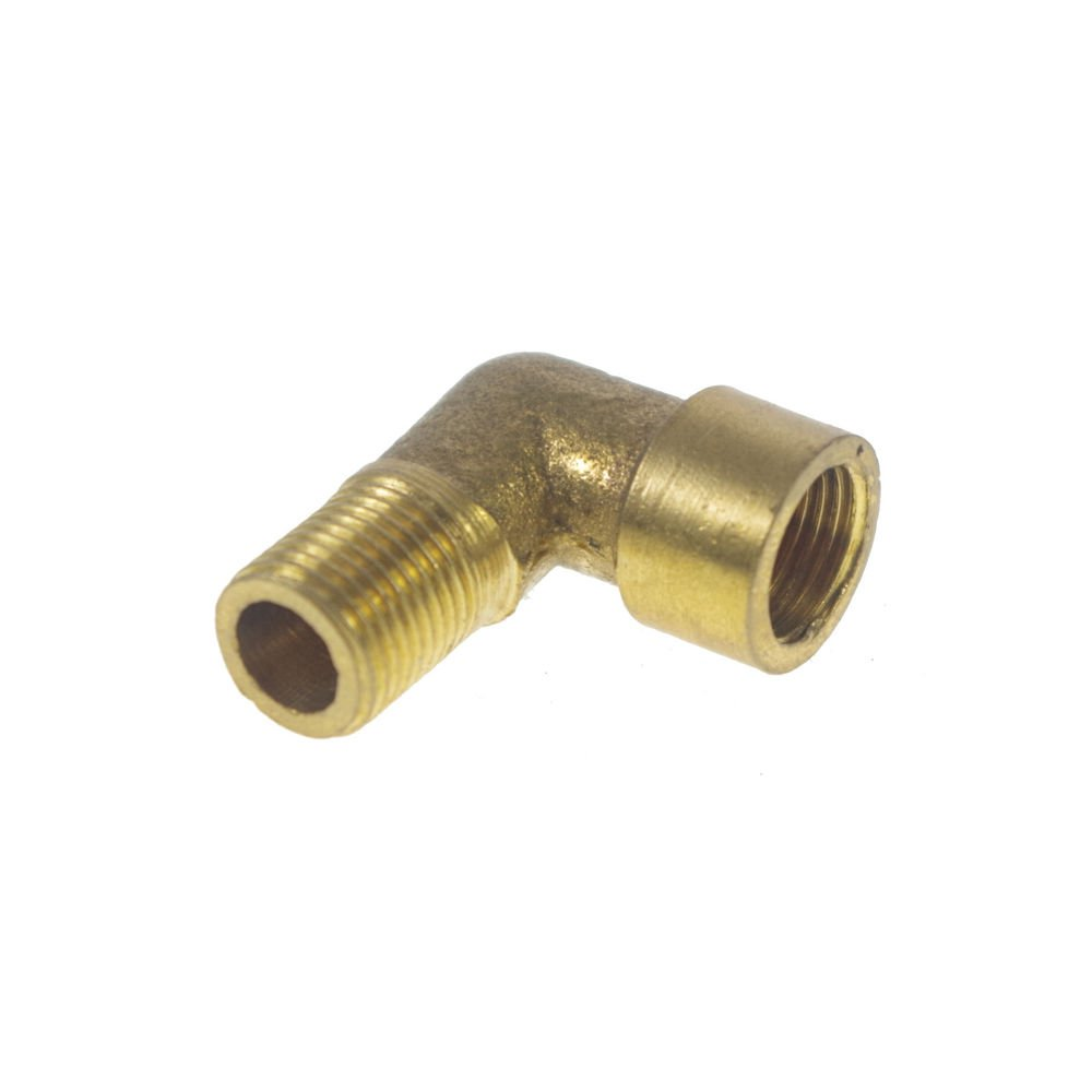 """5PCS 1/8"""" BSPP Connection Elbow Female-Male Pipe Brass Adapter Coupler Connector"""