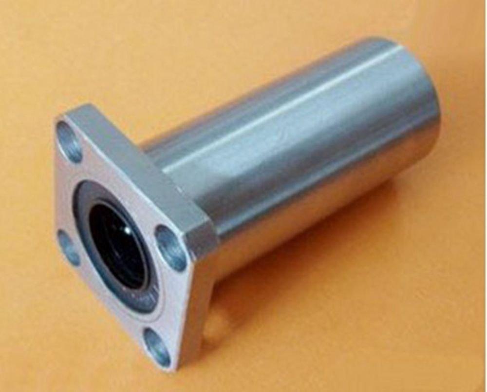 (2)LMK25LUU Square Long Type CNC Linear Motion Metal Shield Bearing 25*40*112mm