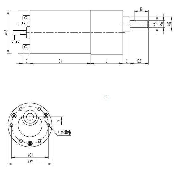 24V 600RPM Speed  Geared Gearhead Box DC Motor High Torque Output Heavy Duty