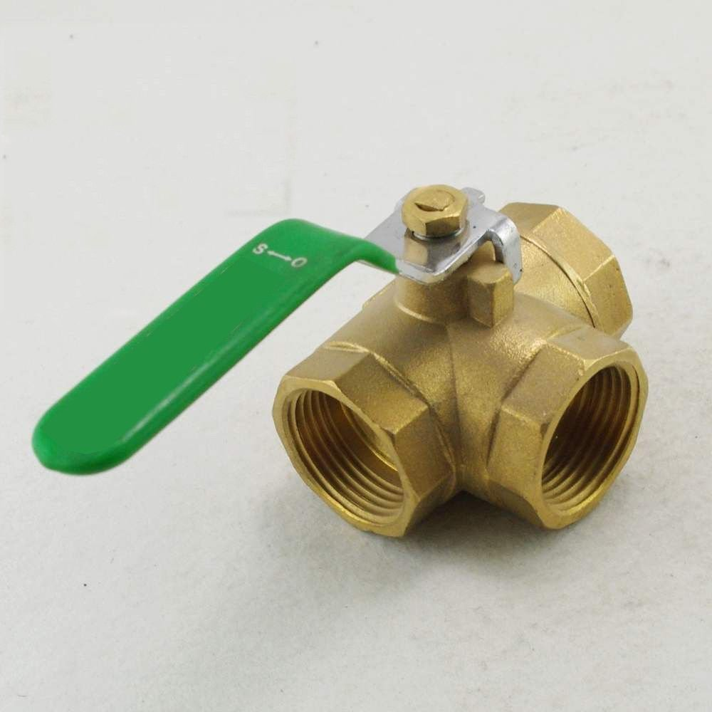 "Female T port Brass Ball Valve Three Way 2"" BSPP Connection"