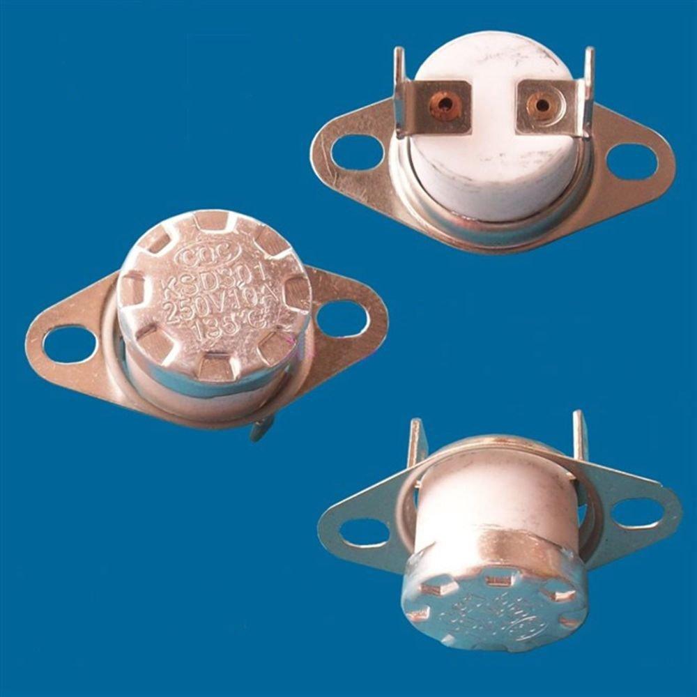 3PCS KSD301 NC 185 Celsius Ceramic Temperature Switch Thermostat Controllor 250V