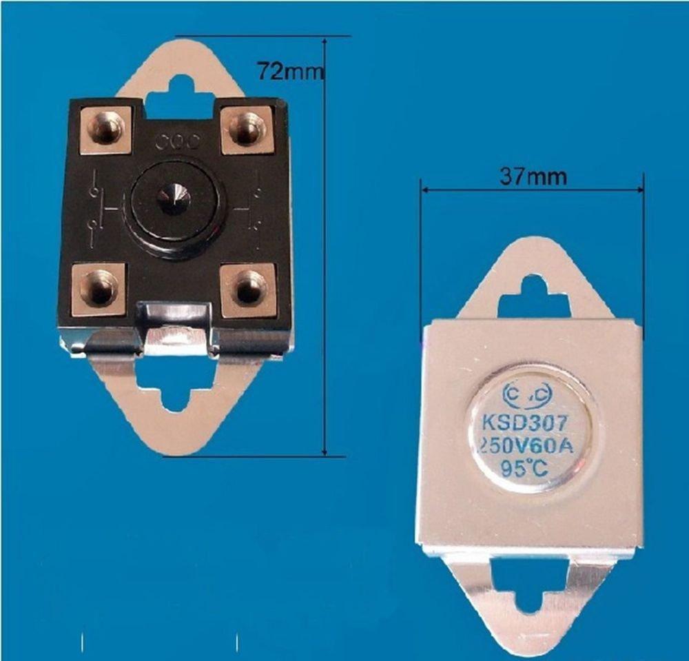 1PCS KSD307 NC 95 Celsius 250V 60A Temperature Switch Thermostat Controllor