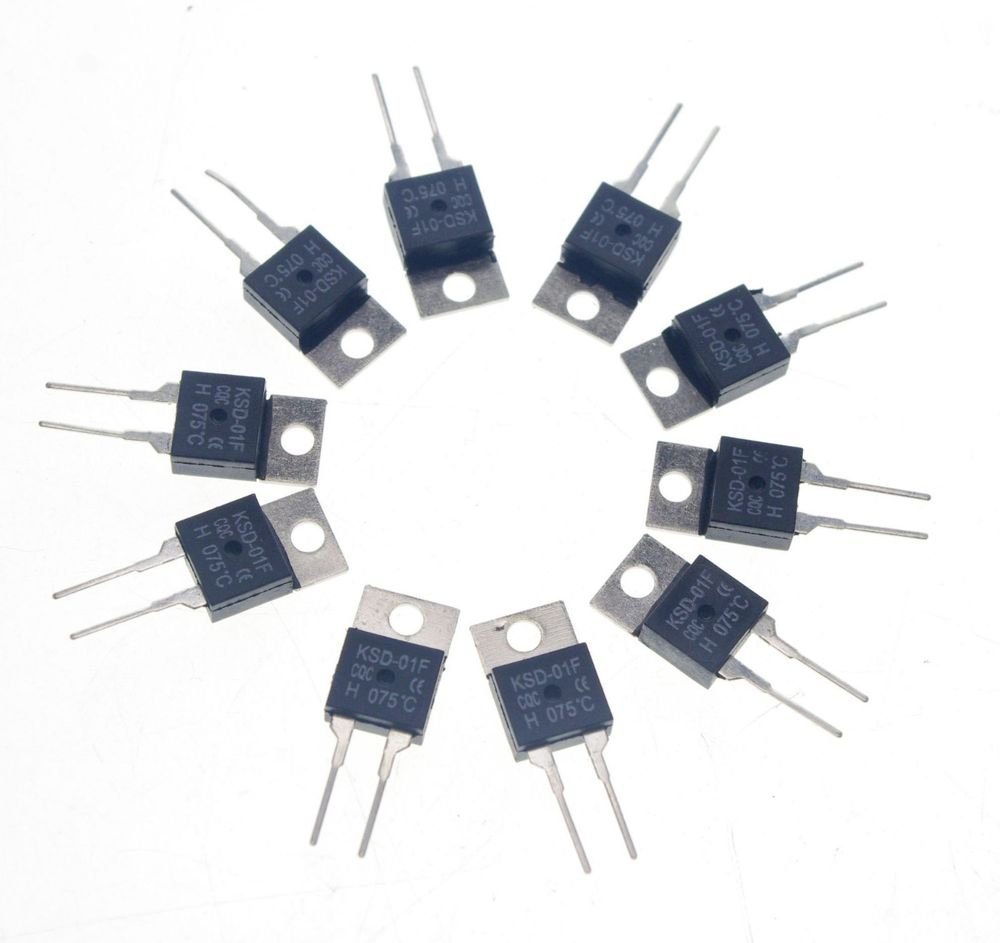 10PCS KSD-01F NC 50 Celsius TO-220 Temperature Switch Controllor Thermostat 250V