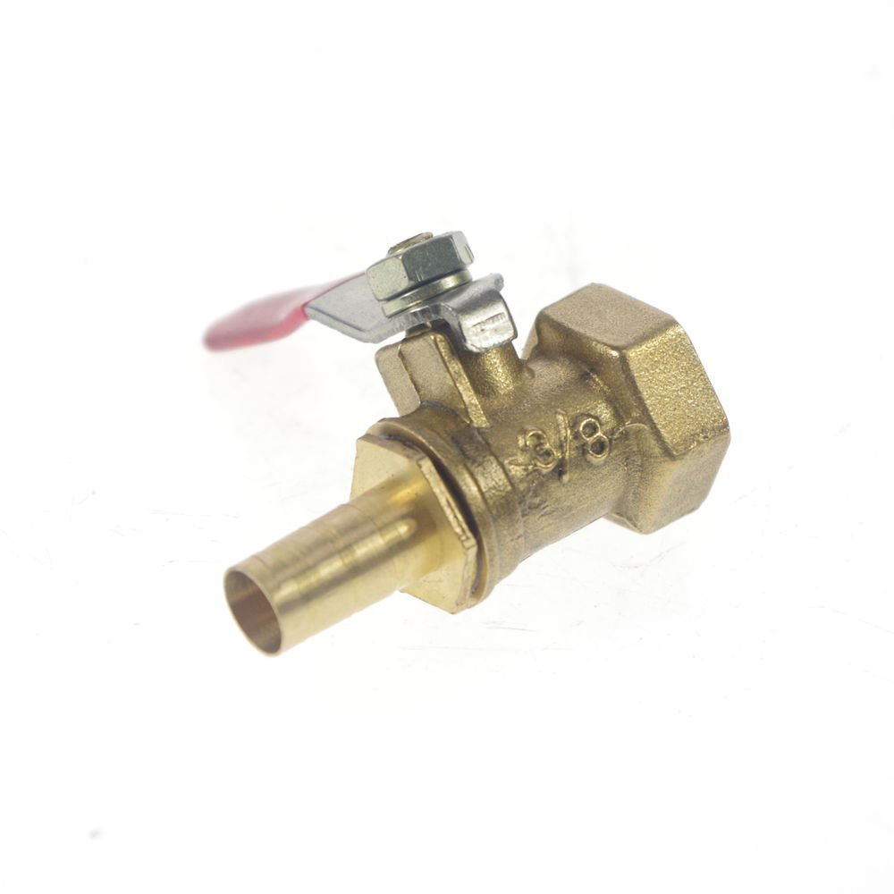 """8mm Hose barbed x 3/8"""" BSPP Connection Female Air Brass Pipe Ball Valve"""