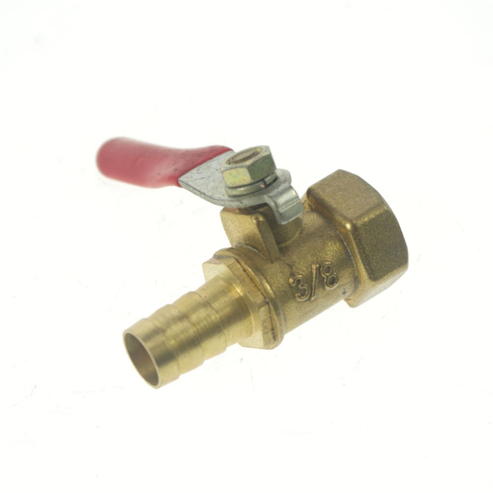 "10mm Hose barbed x 3/8"" BSPP Connection Female Air Brass Pipe Ball Valve"