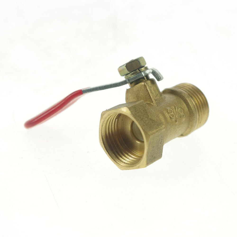 "3/8"" BSPP Connection Air Male-Female Full Ports Brass Pipe Ball Valve"