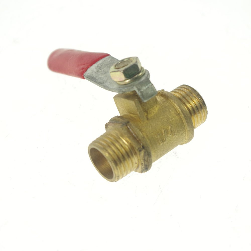 "1/4"" BSPP Connection Air Male-Male Full Ports Brass Pipe Ball Valve"
