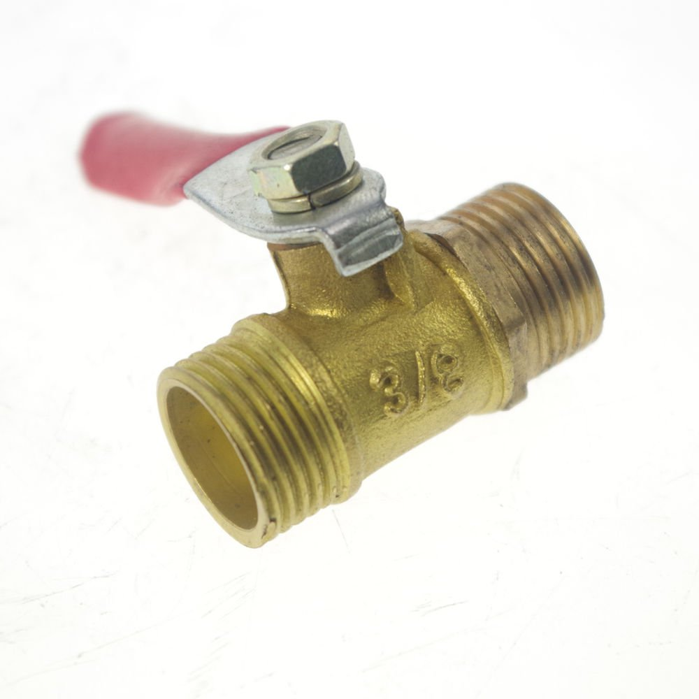 "3/8"" BSPP Connection Air Male-Male Full Ports Brass Pipe Ball Valve"