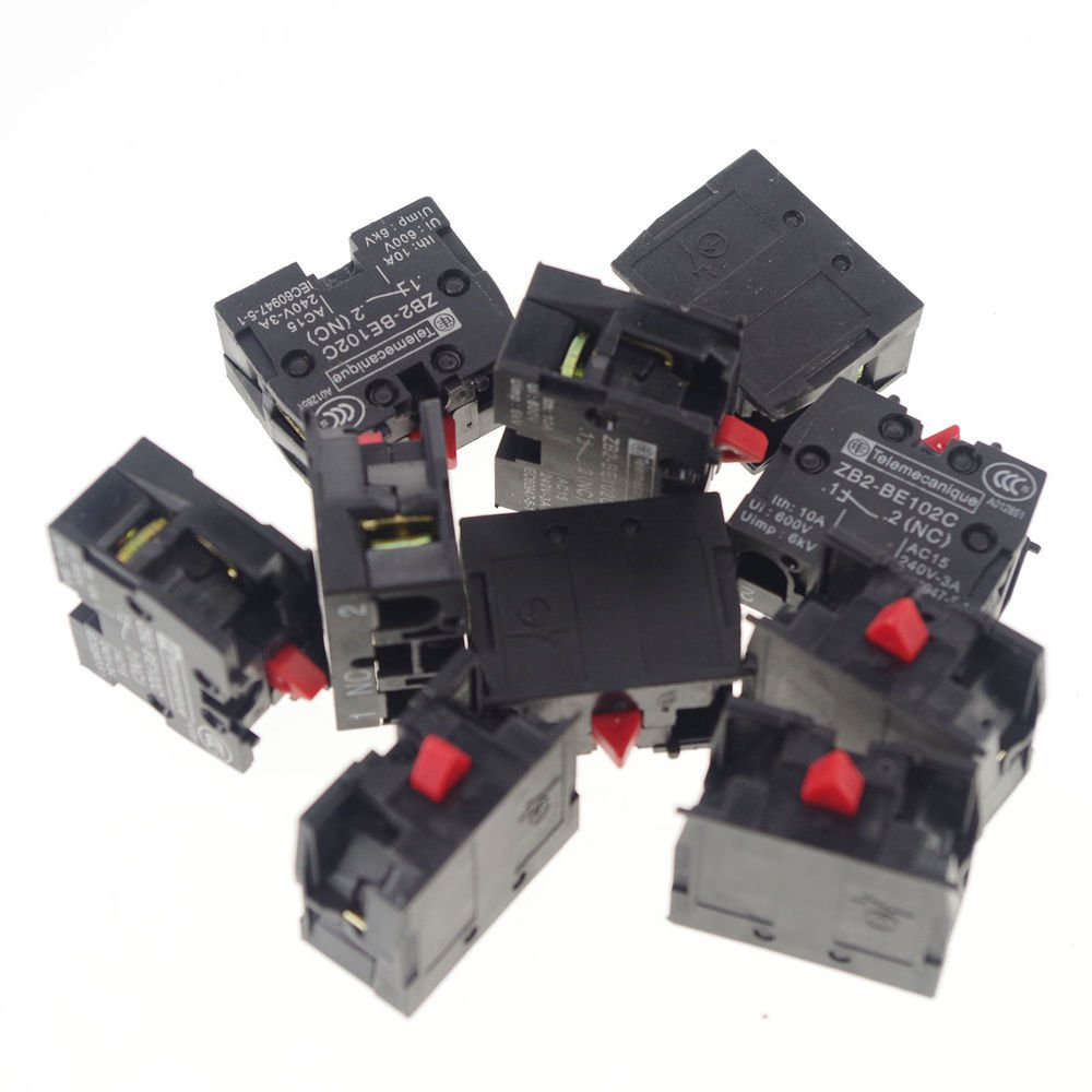 LOT OF 10 TELEMECANIQUE ZB2-BE101C NC CONTACT BLOCK REPLACES TELE 10A 400V NEW